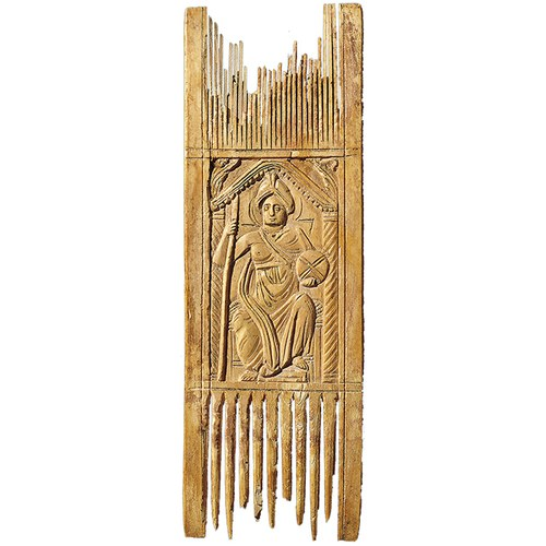 United empire: comb with personifications of the metropolises of Rome (image) and Constantinople © Benaki Museum, Athen